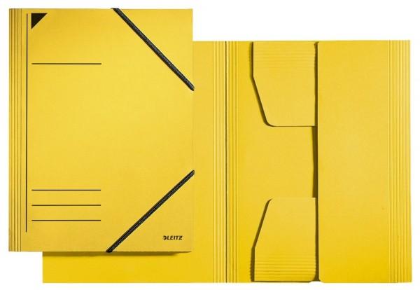 Leitz 3981 Eckspannermappe - A4, 250 Blatt, Pendarec-Karton (RC), gelb