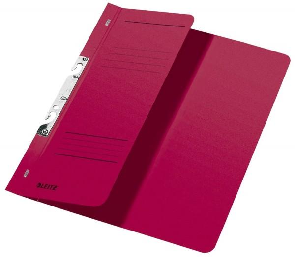 Leitz 3744 Schlitzhefter, 1/2-Vorderdeckel, A4, kfm. Heftung, Manilakarton 250 g/qm, rot