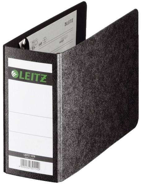 Leitz 1078 Ordner Hartpappe - 80 mm, ohne Griffloch, für Größe A6 quer