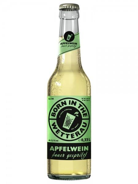 """Born in the Wetterau Apfelwein """"sauer gespritzt"""""""
