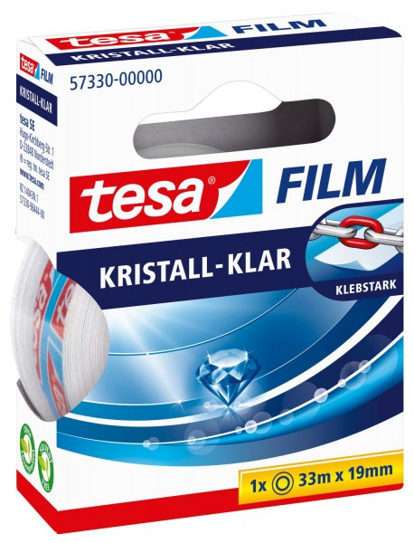 tesa® Klebefilm kristall-klar - Bandgröße (L x B): 33 m x 19 mm