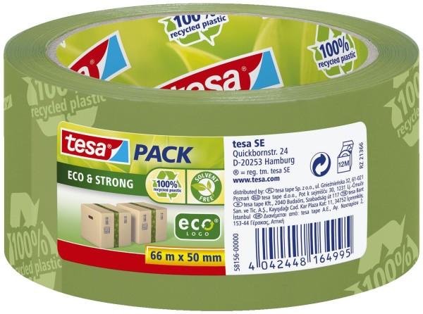 tesa® Verpackungsklebeband tesapack® Eco & Strong, PP, 66 m x 50 mm, grün