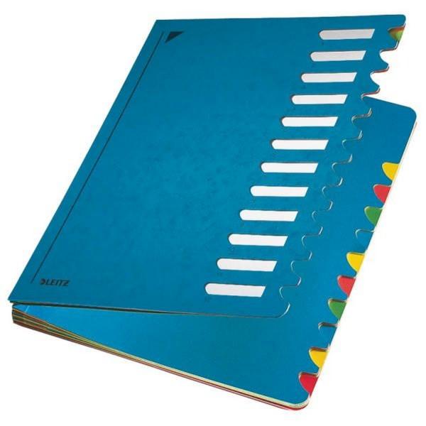Leitz 5912 Deskorganizer Color 1-12 - 12 Fächer, Karton, blau