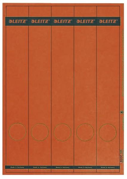 Leitz 1688 PC-beschriftbare Rückenschilder - Papier, lang/schmal, 125 Stück, rot