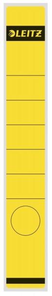 Leitz 1648 Rückenschilder - Papier, lang/schmal, 10 Stück, gelb