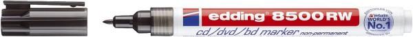 Edding 8500 RW CD-Marker - non-permanente, ca. 1 mm, schwarz