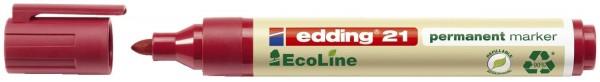 Edding 21 Permanentmarker EcoLine - nachfüllbar, 1,5 - 3 mm, rot