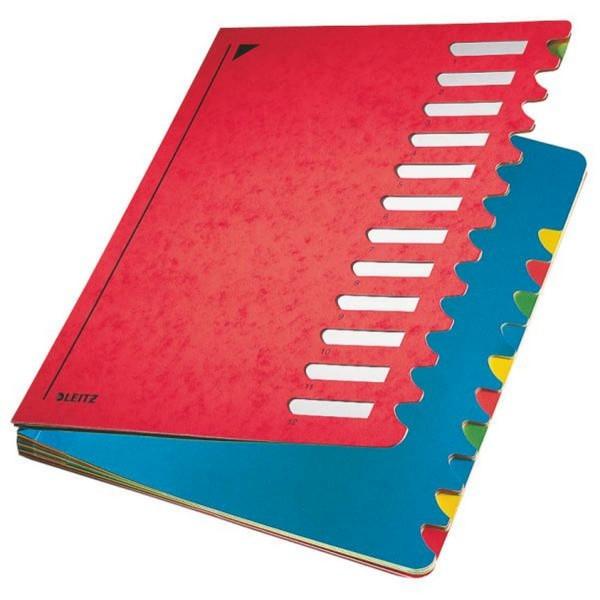 Leitz 5912 Deskorganizer Color 1-12 - 12 Fächer, Karton, rot