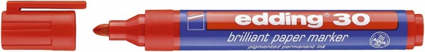 Edding 30 Brilliant paper marker - nachfüllbar, 1,5 - 3 mm, rot