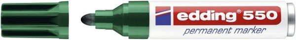 Edding 550 Permanentmarker - nachfüllbar, 3 - 4 mm, grün