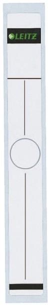 Leitz 6094 Rückenschild für Hängeordner - schmal/lang, 10 Stück, weiß