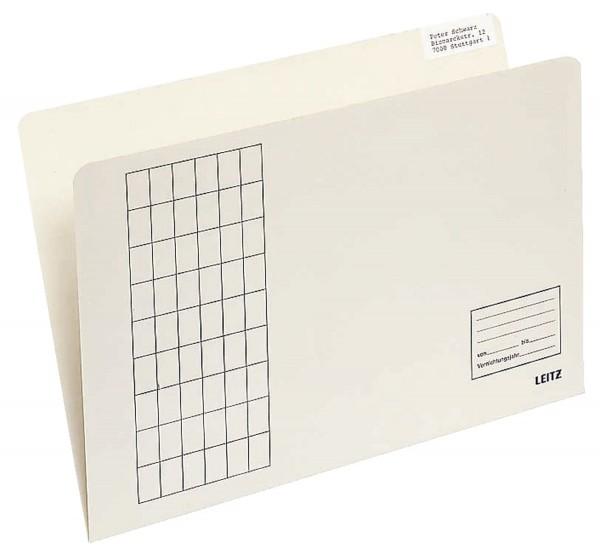 Leitz 2433 Einstellmappe einfach, vertikal, Gitterdruck, Kraftkarton, chamois