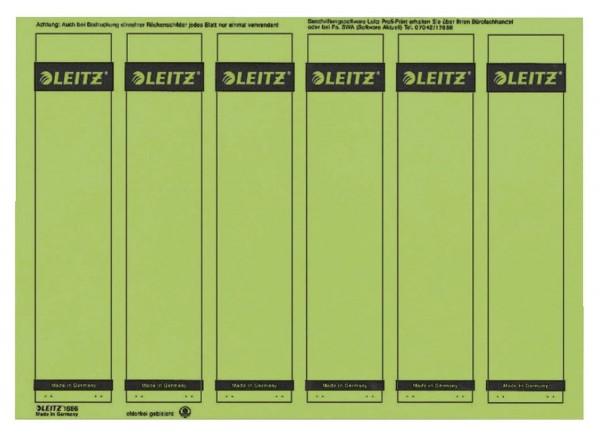 Leitz 1686 PC-beschriftbare Rückenschilder - Papier, kurz/schmal, 150 Stück, grün