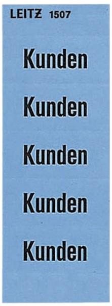 Leitz 1507 Inhaltsschild Kunden, selbstklebend, 100 Stück, blau