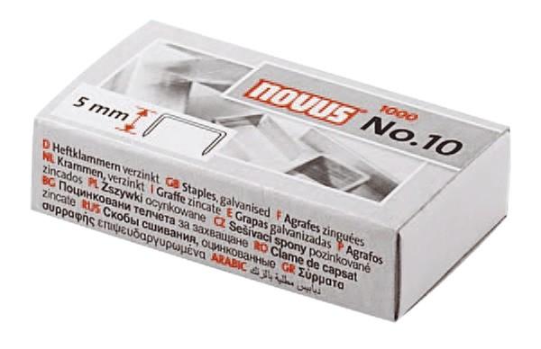 Novus® Heftklammern No. 10 - 1000 Stück