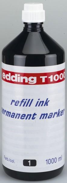 Edding T 1000 - Nachfülltusche, 1000 ml, schwarz