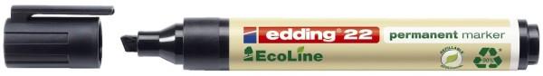 Edding 22 Permanentmarker EcoLine - nachfüllbar, 1 - 5 mm, schwarz
