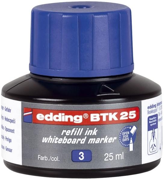 Edding BTK 25 Nachfülltusche - für Boardmarker, 25 ml, blau