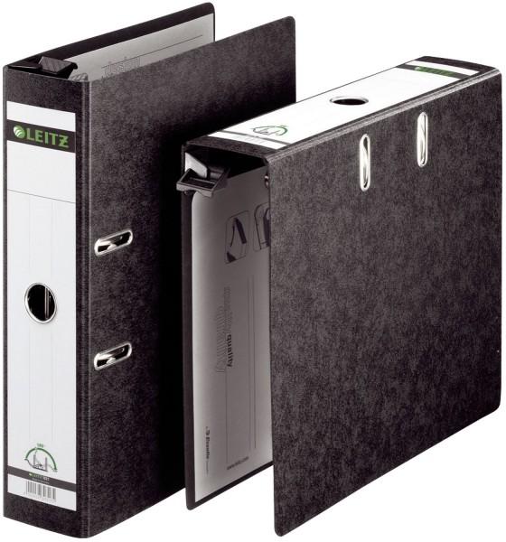 Leitz 1821 Qualitäts-Hängeordner , A4, Hartpappe, breit, schwarz