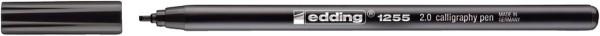 Edding 1255 Fasermaler calligraphy pen - 2,0 mm, schwarz