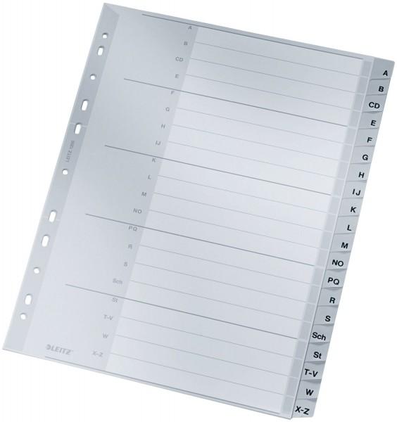 Leitz 1260 Register - A - Z, PP, A4 Überbreite, 20 Blatt, grau