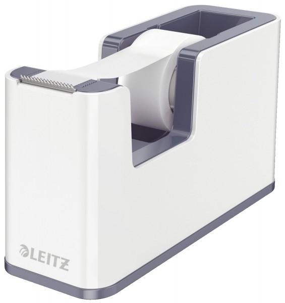 Leitz 5364 Klebeband-Abroller WOW Duo Colour - weiß, inkl. Klebefilm