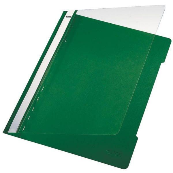 Leitz 4191 Schnellhefter - A4, langes Beschriftungsfeld, PVC, grün