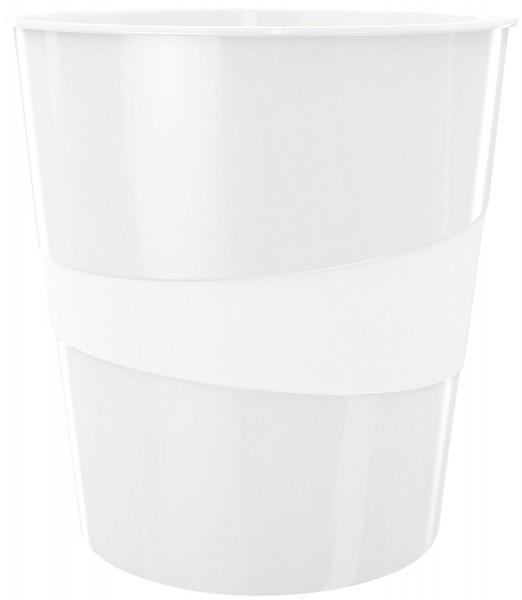 Leitz 5278 Papierkorb WOW - 15l, Polystyren, perlweiß