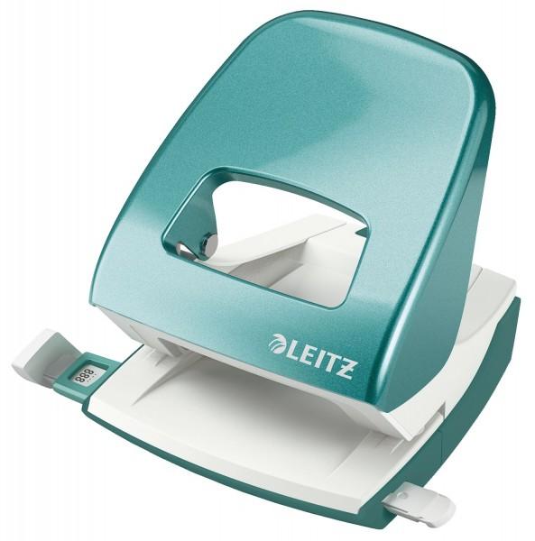 Leitz 5008 Bürolocher NeXXt, Metall, 30 Blatt, eisblau