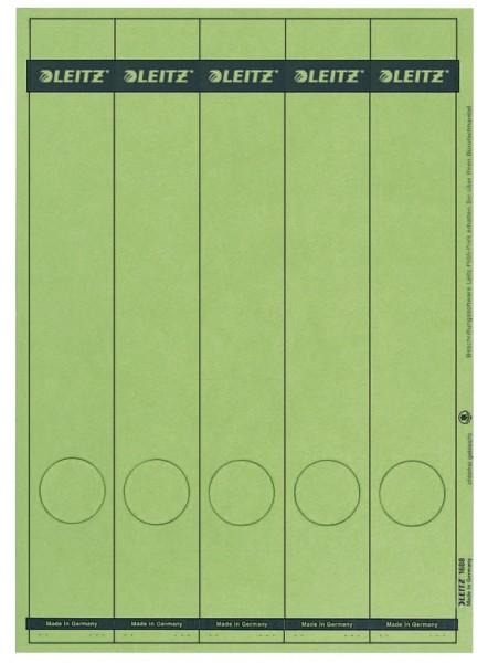 Leitz 1688 PC-beschriftbare Rückenschilder - Papier, lang/schmal, 125 Stück, grün