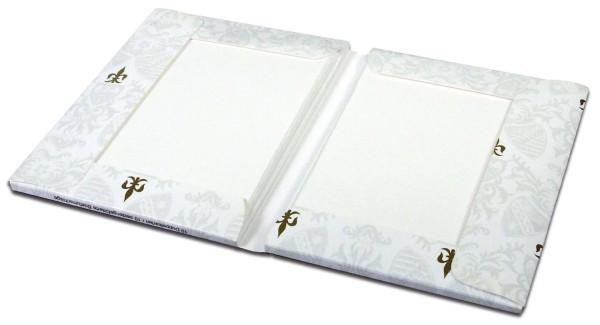 Rössler Papier Kartenmappe Bütten - weiß, Packung mit 10 Karten und 10 Briefhüllen, A6/C6
