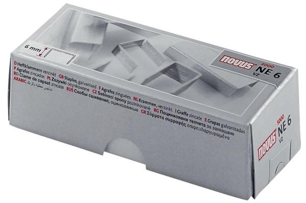 Novus® Heftklammern Nr. NE6 - Stahldraht, verzinkt, 5000 Stück
