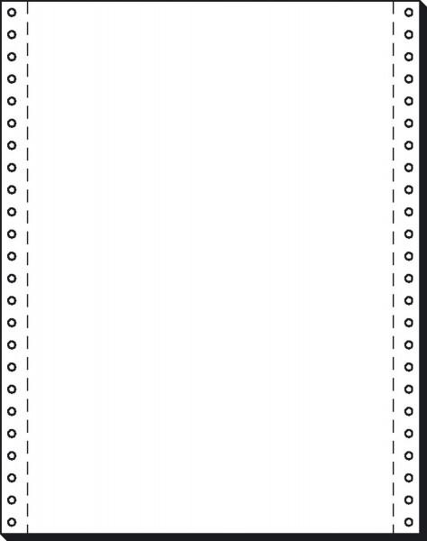"""SIGEL DIN-Computerpapier, 1fach, 12""""x240 mm (A4 hoch), längsperforiert, 2000 Blatt"""