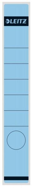 Leitz 1648 Rückenschilder - Papier, lang/schmal, 10 Stück, blau