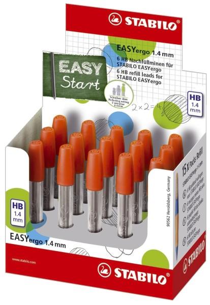 Stabilo® Nachfüllminen EASYergo 1.4 - HB, Minencontainer mit 6 Minen