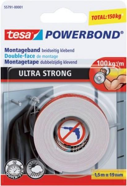 tesa® Montageband Powerbond® - 19 mm x 1,5 m, extra stark