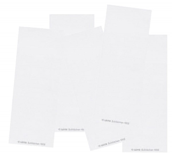 Leitz 1902 Blanko-Schildchen, für ALPHA®, Karton, 100 Stück, weiß