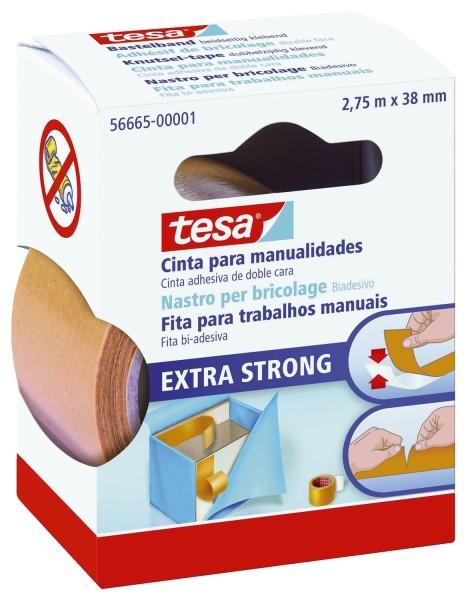 tesa® Bastelband, Träger: PVC/Acrylatklebmasse, beidseitig klebend, 2,75 m
