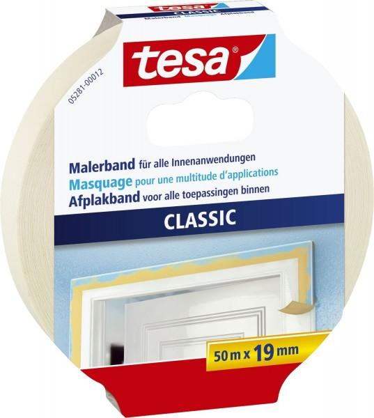 tesa® Papier-Klebeband Maler-Krepp Classic, 50 m x 19 mm, beige