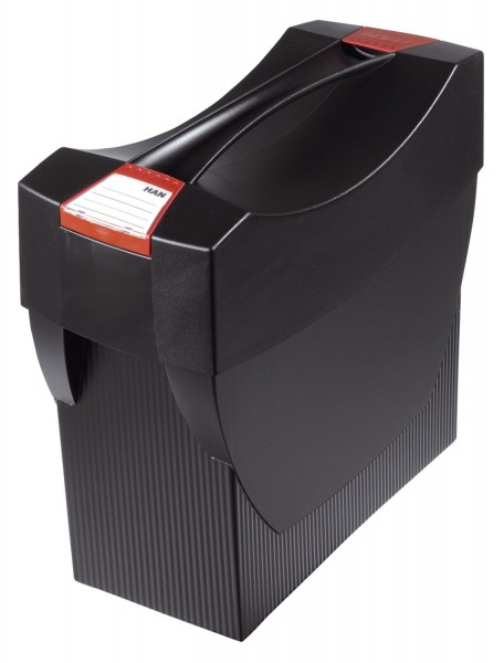 HAN Hängemappenbox SWING-PLUS mit Deckel, für 20 Hängemappen, schwarz