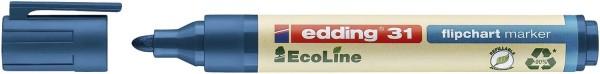 Edding 31 Flipchartmarker EcoLine - nachfüllbar, 1,5 - 3 mm, blau