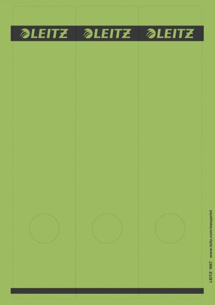 Leitz 1687 PC-beschriftbare Rückenschilder - Papier, lang/breit, 75 Stück, grün