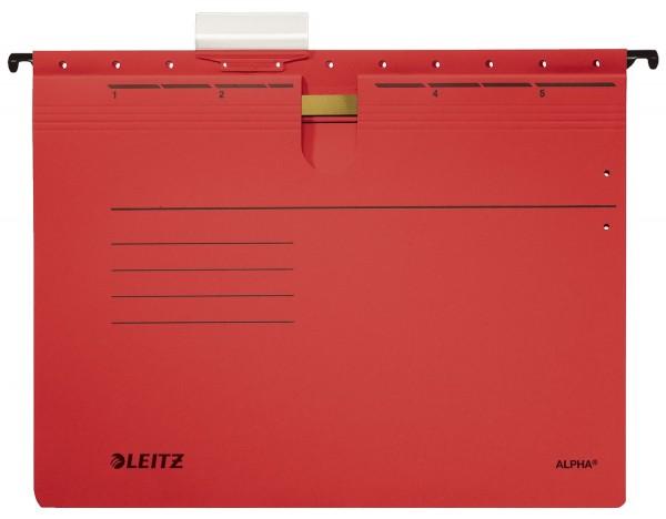 Leitz 1984 Hängehefter ALPHA® - kfm. Heftung, Recyclingkarton, rot