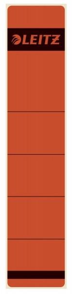 Leitz 1643 Rückenschilder - Papier, kurz/schmal, 10 Stück, rot