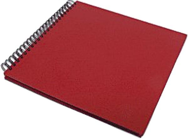 Rössler Papier Fotospiralbuch SOHO - 29 x 29 cm, 60 Seiten, rot