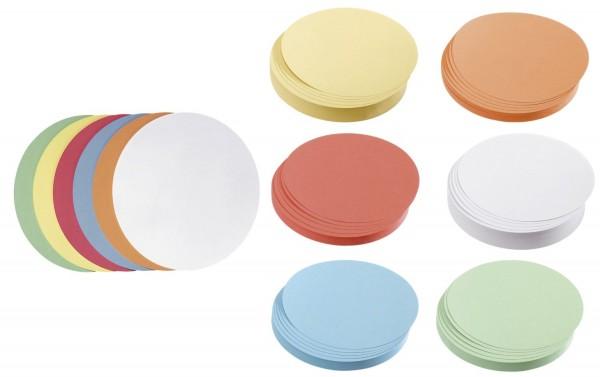Franken Moderationskarte Kreis groß, 195 mm, sortiert, 500 Stück