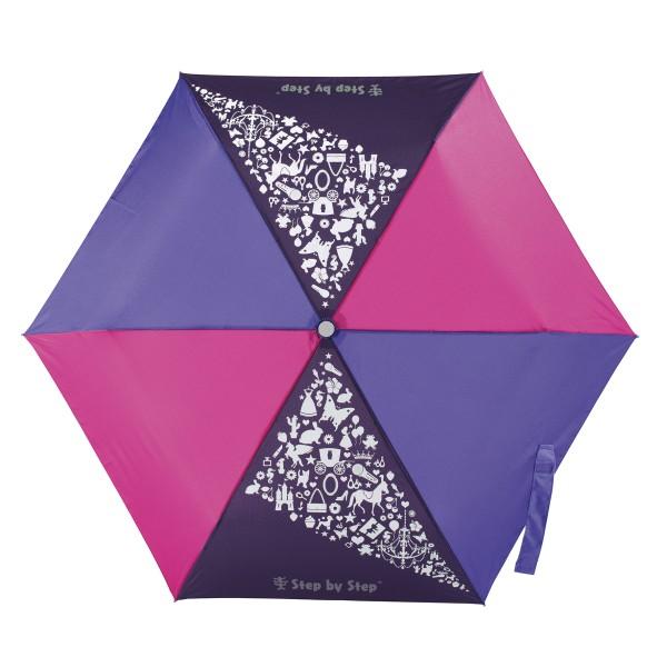 "Step by Step Regenschirm ""Purple & Rose"", Magic Rain EFFECT"