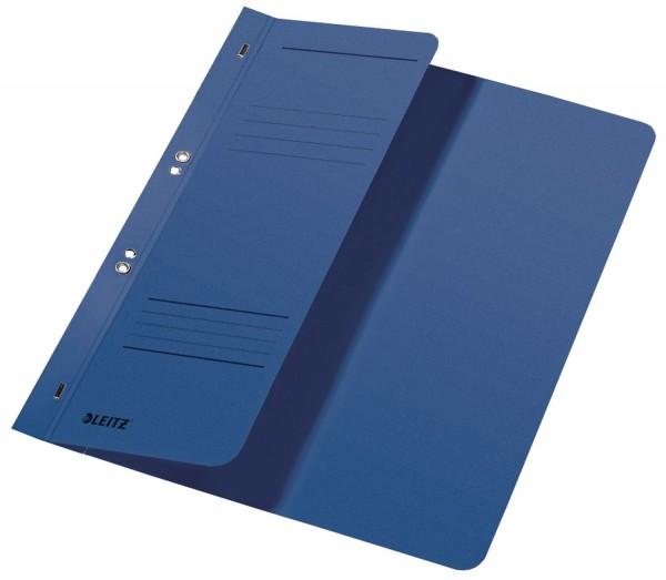 Leitz 3740 Ösenhefter, 1/2 Vorderdeckel, A4, kfm. Heftung, Manilakarton, blau