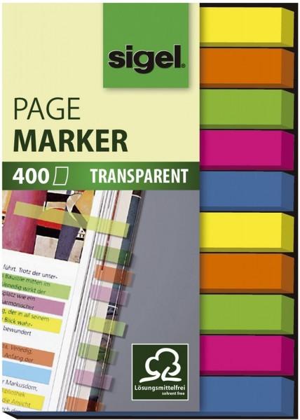 SIGEL Haftmarker Folie - 50 x 6 mm, 5 Farben, 400 Streifen