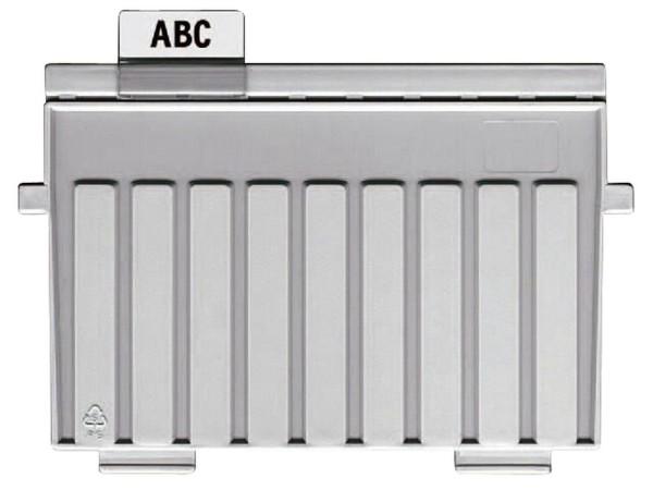 HAN Stützplatte A7 quer, für Karteitröge und -kästen, lichtgrau